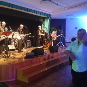 Danny Junor on Sax with The Bellhops at Magpies Waitara 16 December 2018